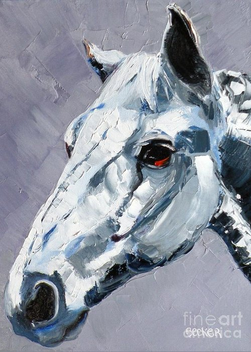Horse Greeting Card featuring the painting Legend by Susan A Becker
