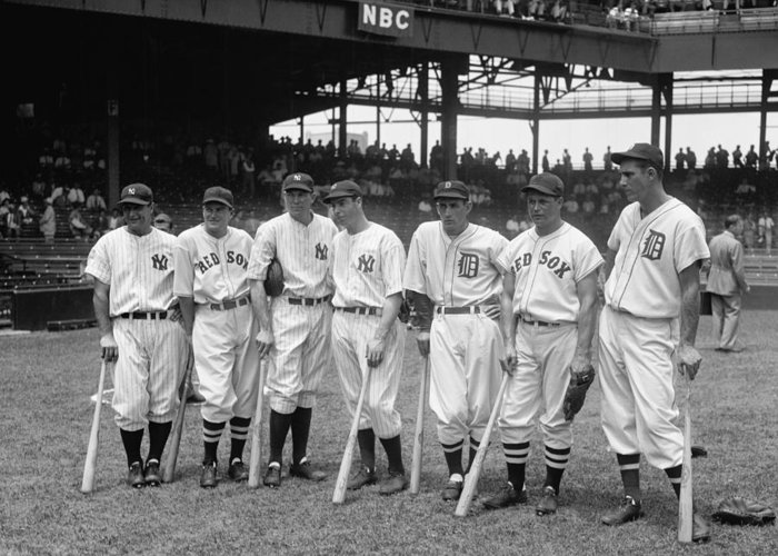 Baseball Greeting Card featuring the photograph Legends Row by Mountain Dreams