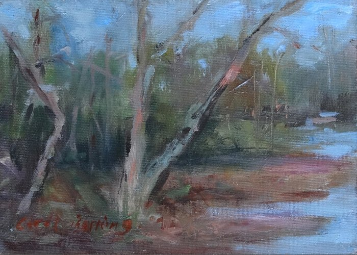 Leiper's Creek Greeting Card featuring the painting Leiper's Creek Study by Carol Berning