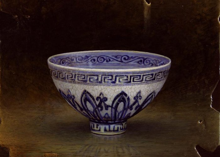 Bowls Greeting Card featuring the painting Lianzi by Bruno Capolongo