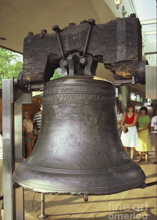 Pennsylvania Greeting Card featuring the photograph Liberty Bell by Van D. Bucher