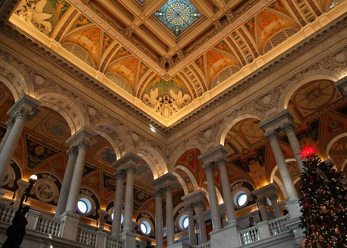 Washington Greeting Card featuring the photograph Library Of Congress - Washington Dc - 011314 by DC Photographer