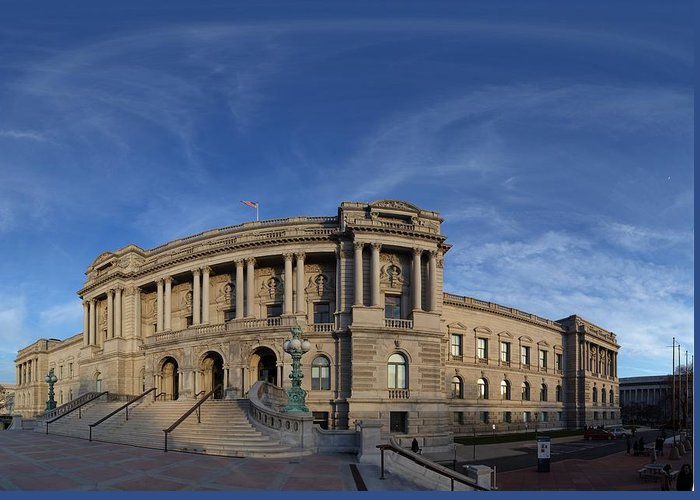 Washington Greeting Card featuring the photograph Library Of Congress - Washington Dc - 011324 by DC Photographer