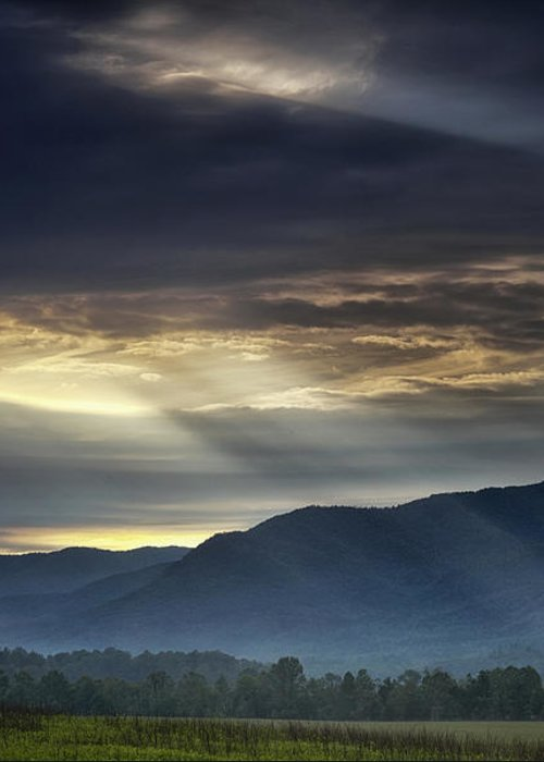 Smoky Greeting Card featuring the photograph Light From The Heavens by Andrew Soundarajan