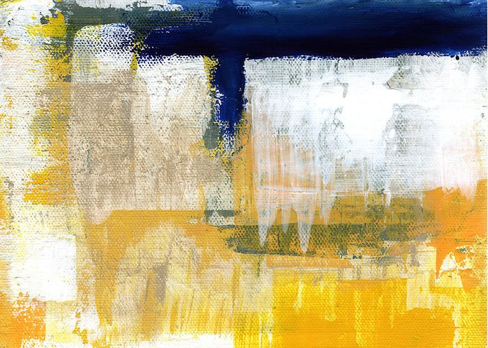 Abstract Greeting Card featuring the painting Light Of Day 2 by Linda Woods