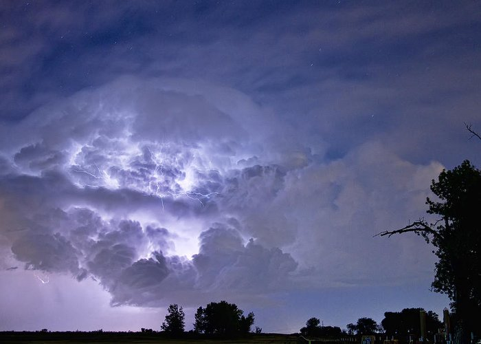 Lightning Greeting Card featuring the photograph Light Show by James BO Insogna