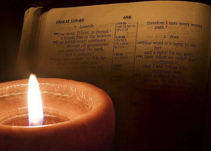 Bible Greeting Card featuring the photograph Light To My Path by Andrew Soundarajan