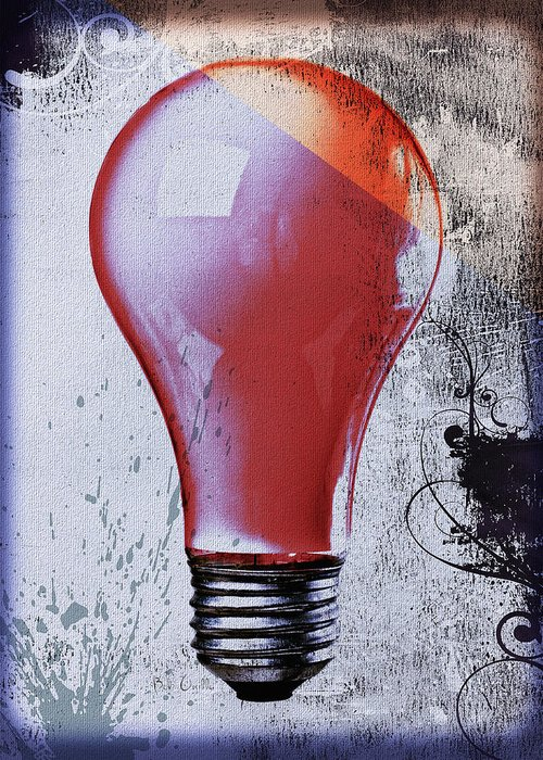 Lightbulb Greeting Card featuring the photograph Lightbulb by Bob Orsillo