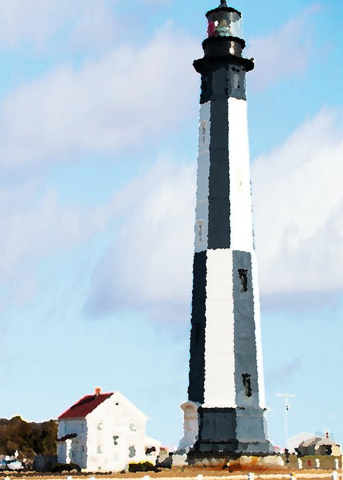 Lighthouse Greeting Card featuring the photograph Lighthouse Living - New Cape Henry Lighthouse by Gregory Ballos