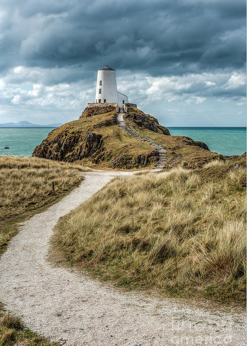 Anglesey Greeting Card featuring the photograph Lighthouse Path by Adrian Evans