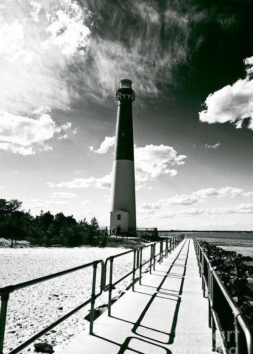 Lighthouse Walk Greeting Card featuring the photograph Lighthouse Walk by John Rizzuto