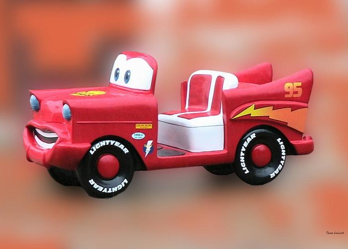 Lightning Mcqueen Greeting Card featuring the photograph Lightning Mcqueen by Thomas Woolworth