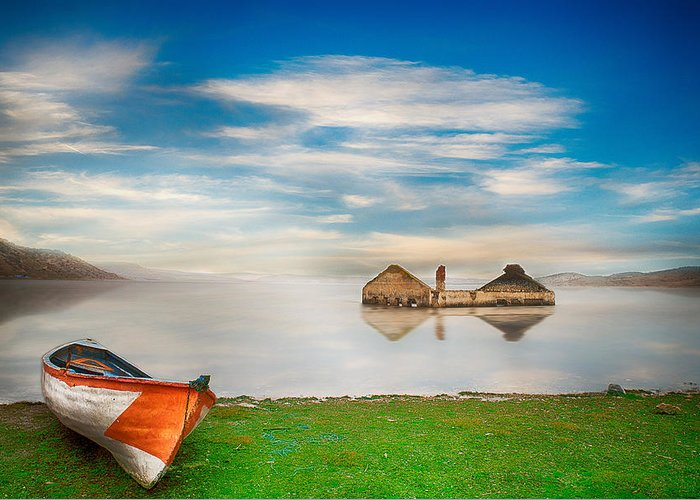 Lake Greeting Card featuring the photograph Like A Dream by Okan YILMAZ