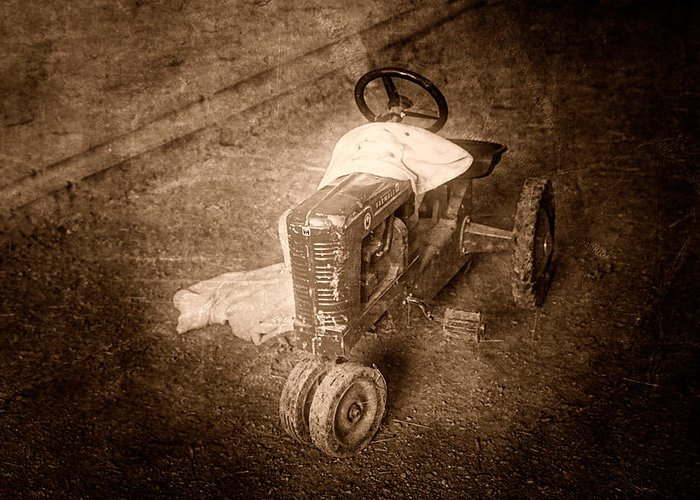 Tractor Greeting Card featuring the photograph Like Father Like Son by Tom Mc Nemar