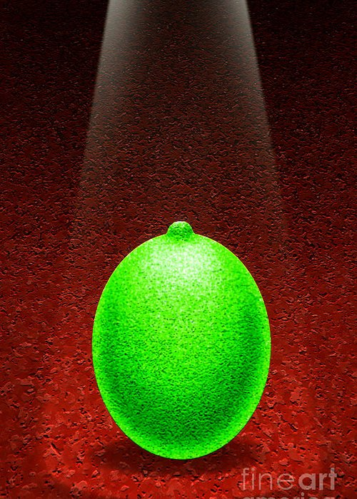 Lime Greeting Card featuring the digital art Limelight by Cristophers Dream Artistry