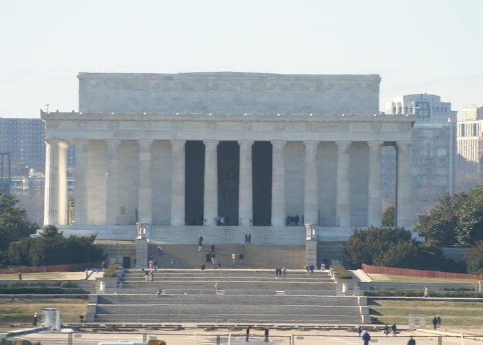 Washington Greeting Card featuring the photograph Lincoln Memorial - Washington Dc - 01131 by DC Photographer