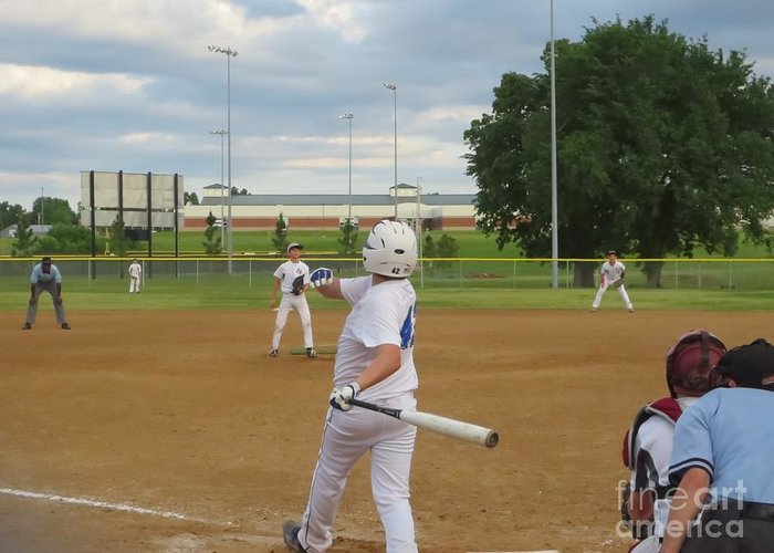 Baseball Greeting Card featuring the photograph Line Drive by Lne Kirkes