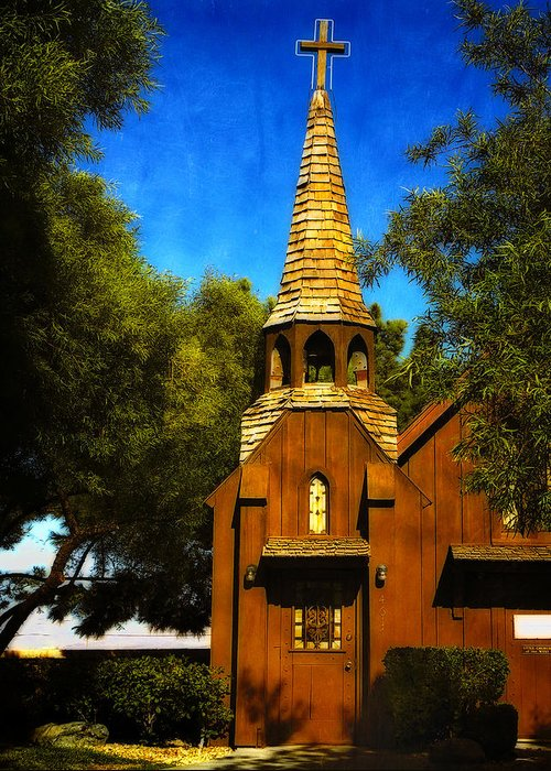Las Vegas Greeting Card featuring the photograph Little Church Of The West by Julie Palencia