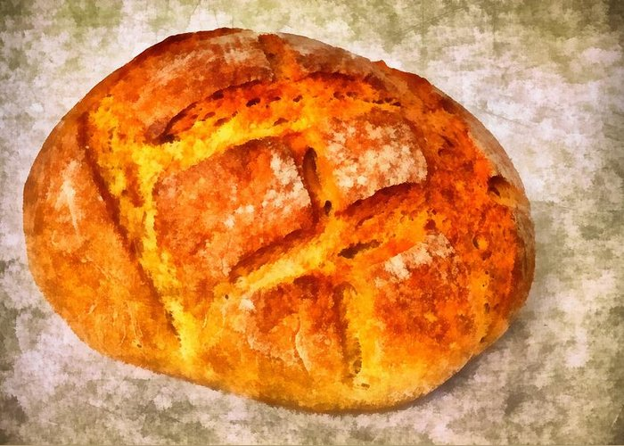 Bread Greeting Card featuring the photograph Loaf Of Bread by Matthias Hauser