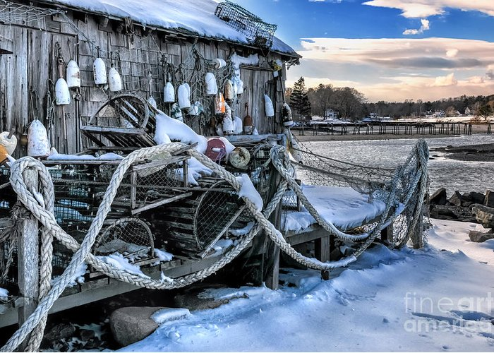 Maine Greeting Card featuring the photograph Lobster Shack At Cape Neddick by Thomas Schoeller