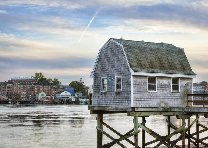 Lobster Shack Greeting Card featuring the photograph Lobster Shack by Eric Gendron