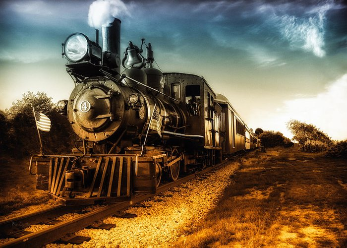 Train Greeting Card featuring the photograph Locomotive Number 4 by Bob Orsillo