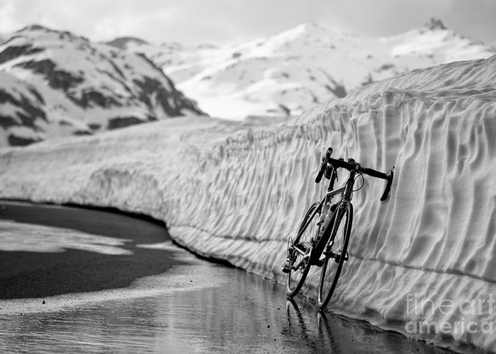 Bicycle Greeting Card featuring the photograph Lonely Bike by Maurizio Bacciarini
