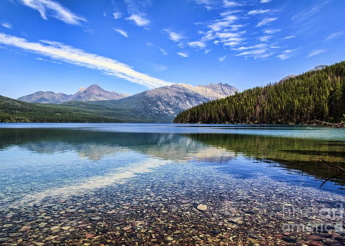 Kintla Lake Greeting Card featuring the photograph Long Knife Peak At Kintla Lake by Scotts Scapes