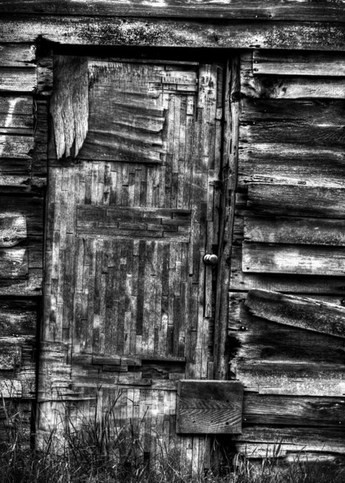Old Wooden Door Greeting Card featuring the photograph Long Time My Friend by Thomas Young