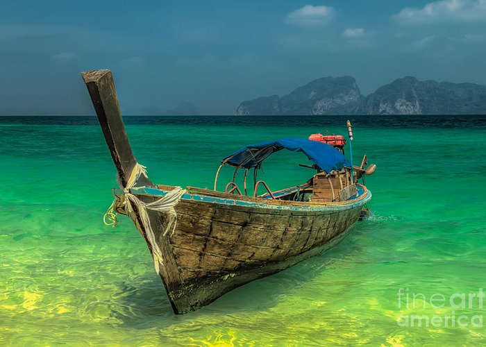Asia Greeting Card featuring the photograph Longboat by Adrian Evans