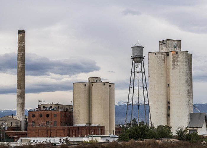 Longmont Greeting Card featuring the photograph Longmont Sugar Mill by Aaron Spong