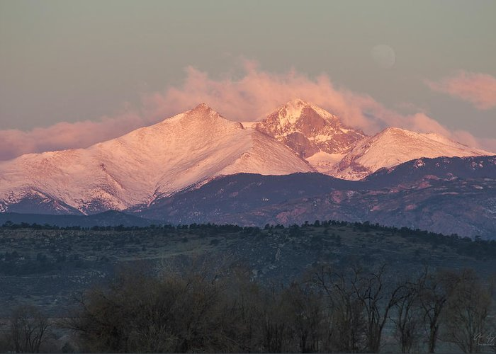 Longs Greeting Card featuring the photograph Longs Peak 1 by Aaron Spong