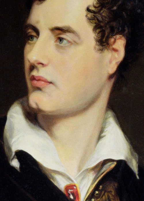 Byron Greeting Card featuring the painting Lord Byron by William Essex