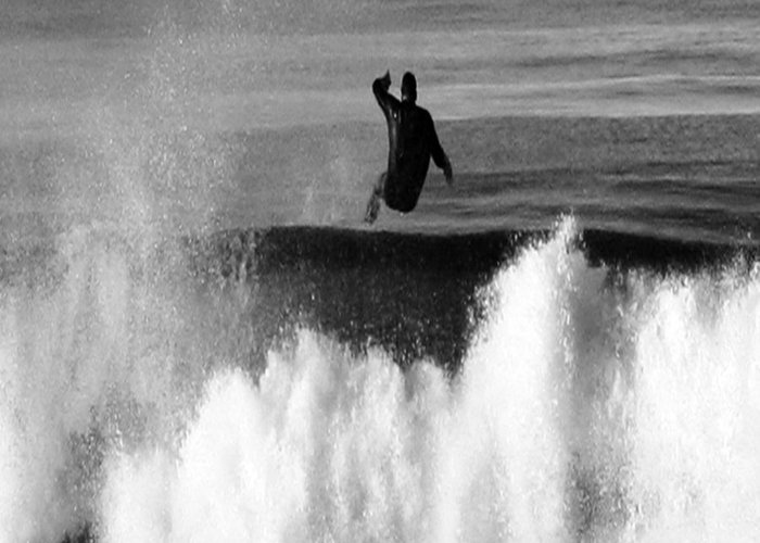 Surfing Greeting Card featuring the photograph Lost One by Gilbert Artiaga