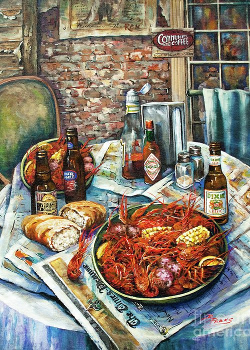 New Orleans Art Greeting Card featuring the painting Louisiana Saturday Night by Dianne Parks