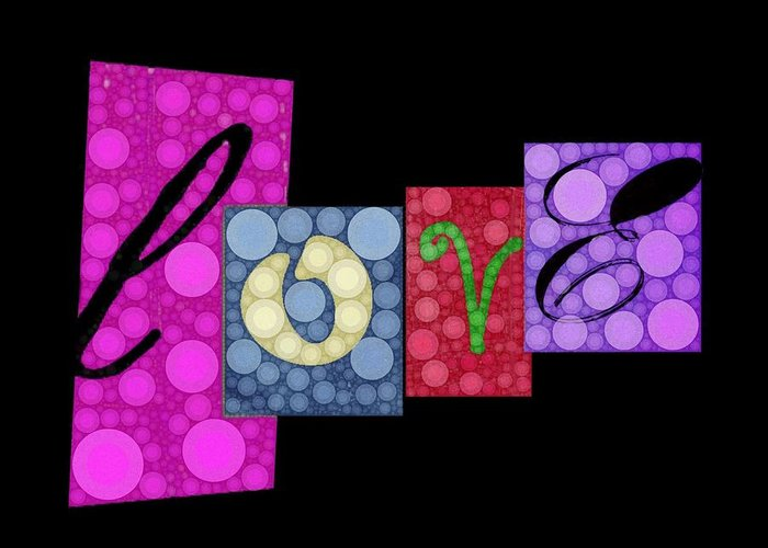 Love Greeting Card featuring the digital art Love You by Cindy Edwards