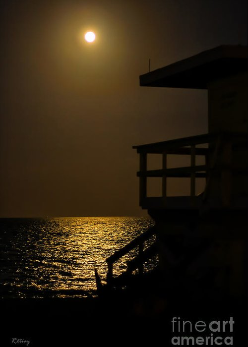Miami Beach Greeting Card featuring the photograph Lovers Moon by Rene Triay Photography