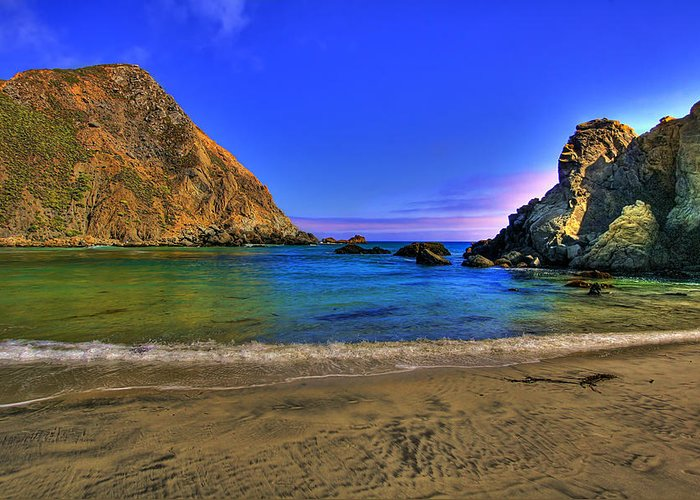 Coast Greeting Card featuring the photograph Low Tide At Big Sur by John Absher