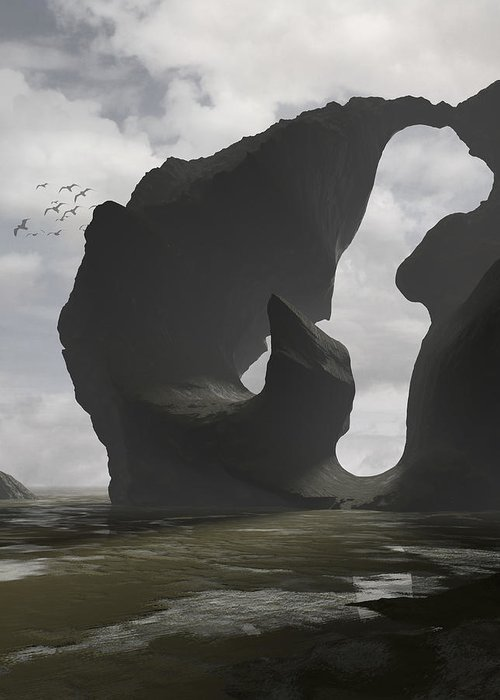 Ocean Greeting Card featuring the digital art Low Tide by Cynthia Decker