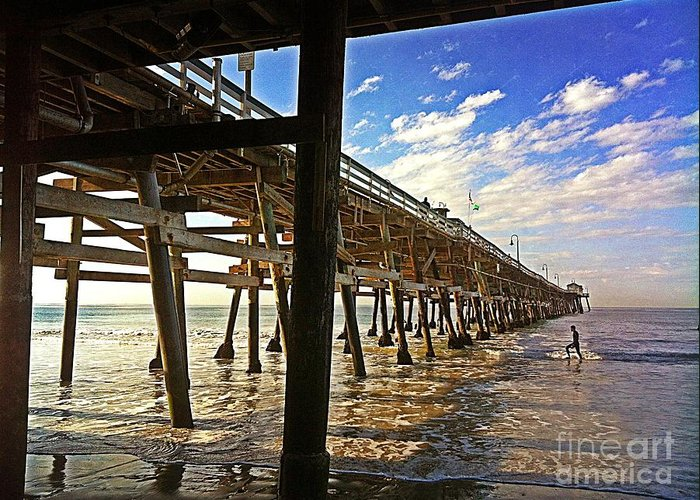 Ltraci Lehman Greeting Card featuring the photograph Lowtide At The Pier by Traci Lehman