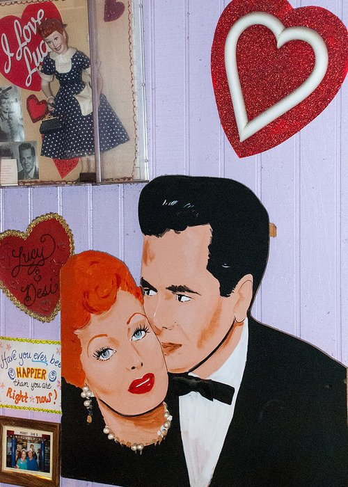 Usa Greeting Card featuring the photograph Lucille Ball At Peggy Sues Diner In Yermo California by Robert Ford