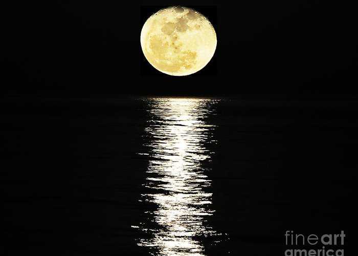 Moon Greeting Card featuring the photograph Lunar Lane 03 by Al Powell Photography USA