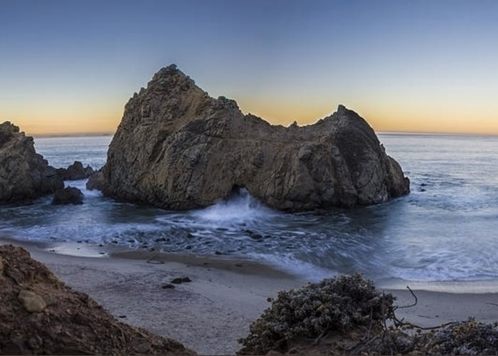 Pfeiffer State Beach Greeting Card featuring the photograph Lunar Solar Exchange by Jeremy Jensen