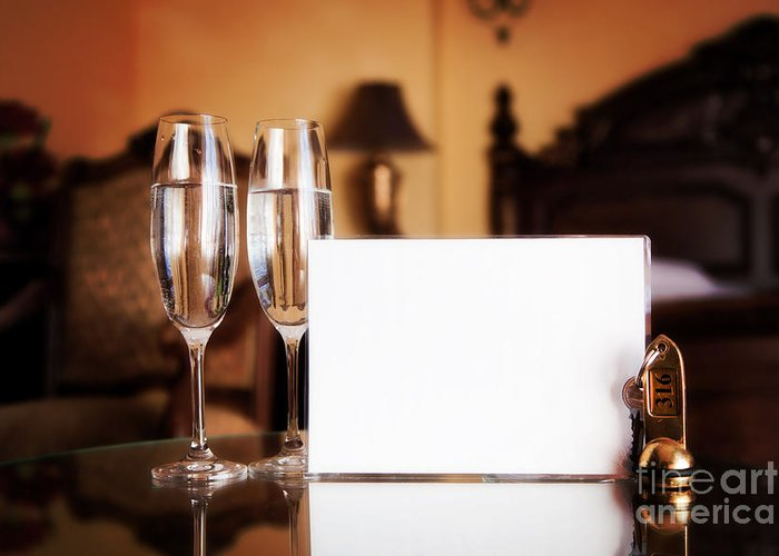 Hotel Greeting Card featuring the photograph Luxury Hotel Room by Michal Bednarek