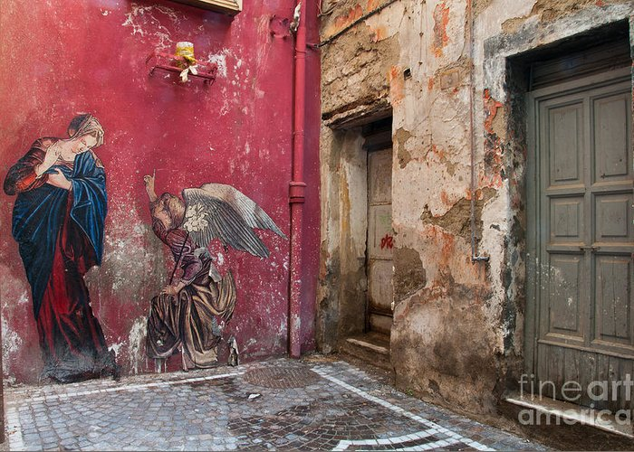 Naples Greeting Card featuring the photograph Madonna Of The Alley by Marion Galt