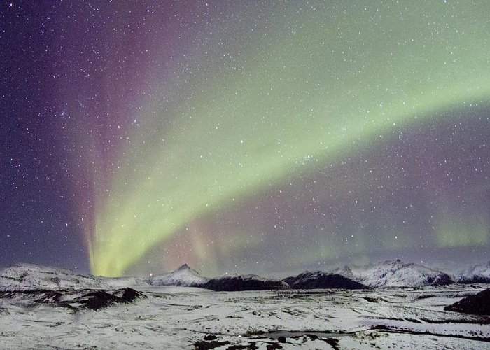 Aurora Greeting Card featuring the photograph Magical Night by Evelina Kremsdorf