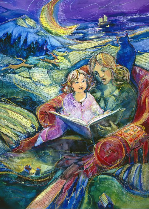 Jen Norton Greeting Card featuring the painting Magical Storybook by Jen Norton