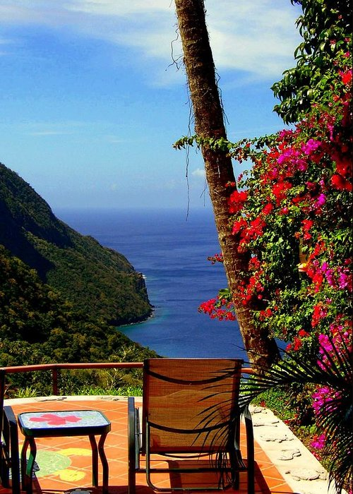 Seascapes Greeting Card featuring the photograph Magnificent Ladera by Karen Wiles