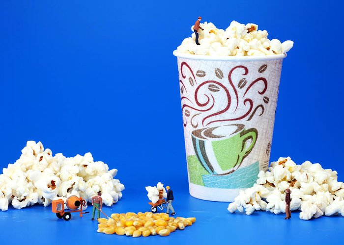 Team Greeting Card featuring the photograph Making Popcorn by Paul Ge