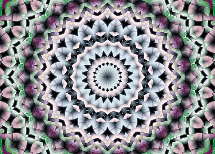 Psychedelic Art Greeting Card featuring the digital art Mandala 40 by Terry Reynoldson
